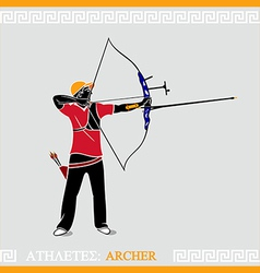 Athlete archer vector