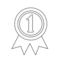 award rosette number one competition vector image vector image