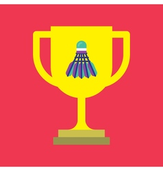 Badminton and Trophy Icon vector image vector image