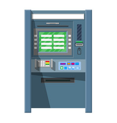 Bank atm automatic teller machine vector