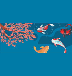 carp koi traditional sacred japanese fish vector image