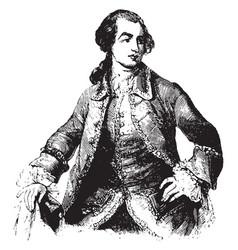 Charles marquis of rockingham vintage vector