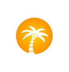 coconout tree logo vector image vector image