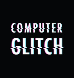 computer glitch vector image vector image