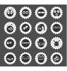Emotions and glances icons vector