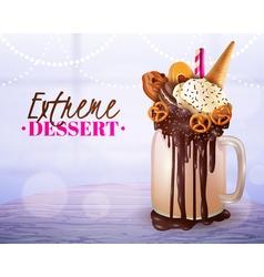 Extreme dessert blurred light background poster vector