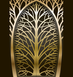 Fabulous golden gate vector