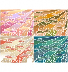 fish batik vector image vector image