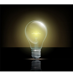 glowing light on a dark background vector image vector image