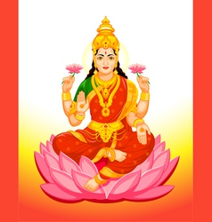 Goddess lakshmi vector