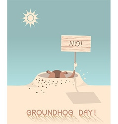 Groundhog day cartoon vector image