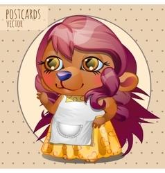 Hedgehog mother series cartoon vector image