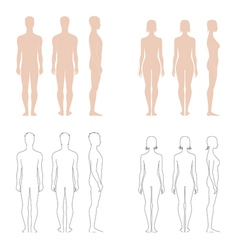 Human figure collection vector image vector image