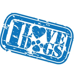 I love dogs stamp vector image