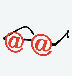 Internet glasses vector