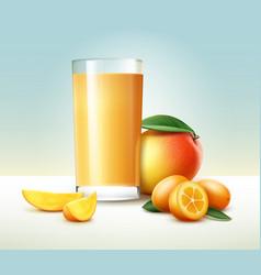 Kumquat mango juice vector