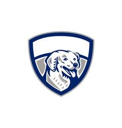 Kuvasz Dog Head Crest Retro vector image vector image