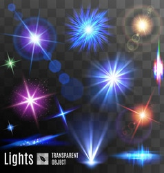 Lens flares and sparks vector
