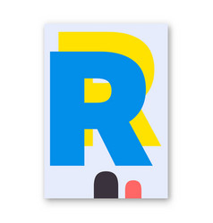 letter r poster vector image vector image