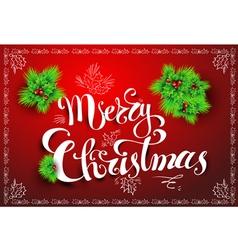Merry christmas post card vector