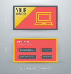 Modern simple business card template vector image