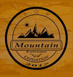 mountain expedition logo vector image vector image