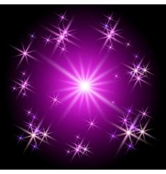 neon burst vector image vector image