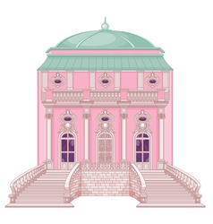 Romantic palace for a princess vector