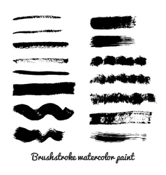 Set of real brush strokes vector