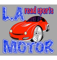 Sport car t-shirt sport boys vector
