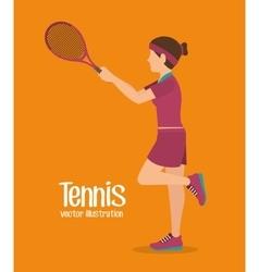 Tennis sport game vector