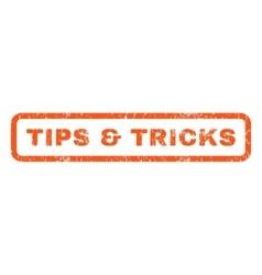 Tips tricks rubber stamp vector