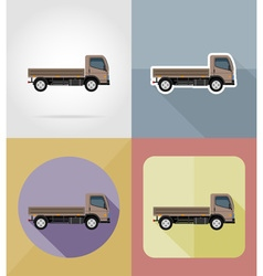 transport flat icons 16 vector image