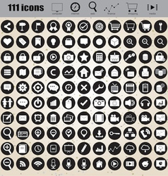 web design icons set eps 10 vector image