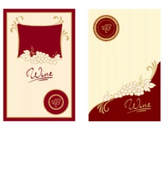 wine labels with swirls vector image