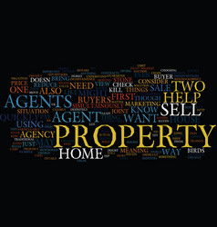 Your house can sell quickly through estate agents vector