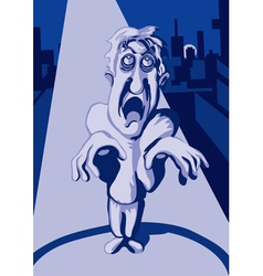 Zombie in the night city vector