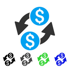 Dollar exchange flat icon vector