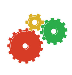 Colorful gears icon vector