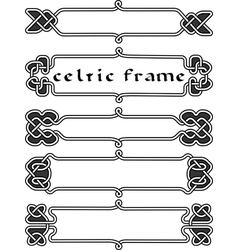 Set celtic frame vector image