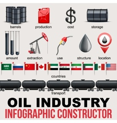Oil industry infographic design elements vector
