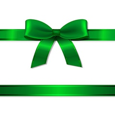 Green Ribbon And Bow vector image