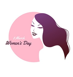 Happy women day pink background vector