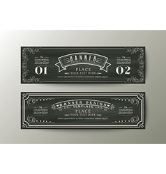 Classic style banner design template vintage frame vector