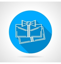 Gift cards flat icon vector image