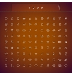 Food thin icons set vector
