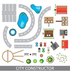 City constructor set of urban elements vector