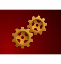 Illustration of golden gears vector