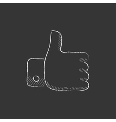 Thumb up Drawn in chalk icon vector image