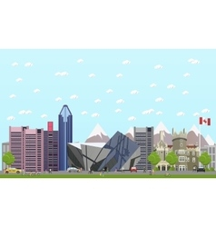 Travel to canada concept vector